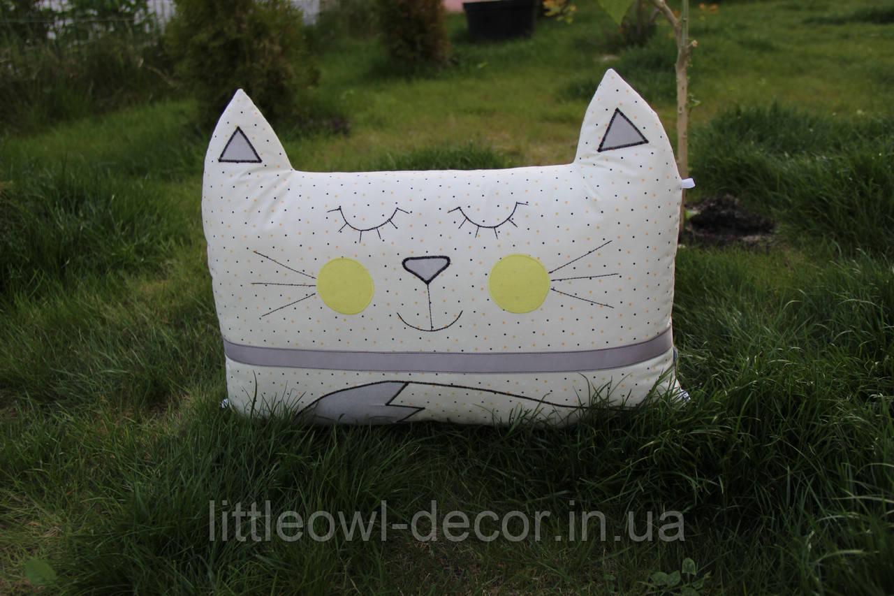 Подушка Котик, сатин 60*45см