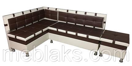 Мягкий кухонный уголок Чак-4 (с нишами)   Udin, фото 2