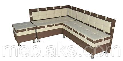 Мягкий кухонный уголок Чак-4 (с нишами)   Udin, фото 3