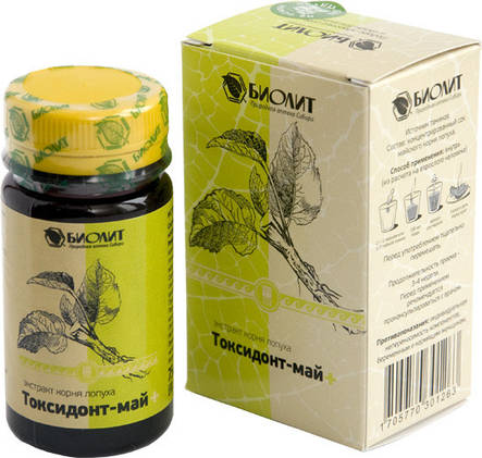 Токсидонт-май (экстракт корня лопуха) - антитоксическое, антиоксидантное, противовоспалительное, фото 2