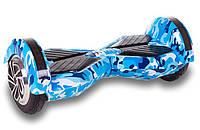 Гироборд Smart Balance lambo U6 8 дюймов LED Blue Camo (голубой камуфляж), фото 1