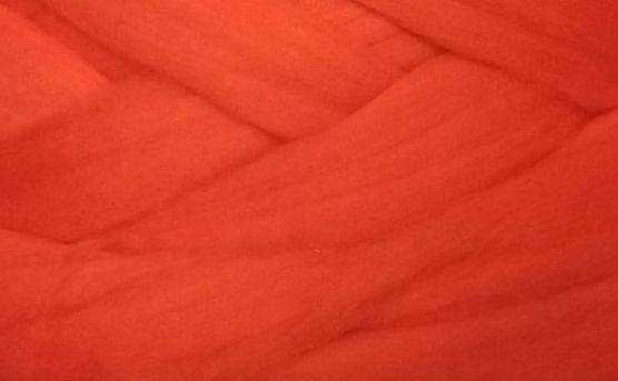 Толстая, крупная пряжа 100% шерсть мериноса. Цвет: Пламя. 21-23 мкрн.