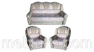 Комплект мягкий диван + 2 кресла  Лидия (дельфин)   Udin, фото 3