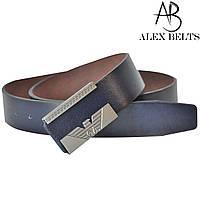 Ремень мужской джинсовый гвоздики (темно-синий) заменитель  40 мм - купить оптом в Одессе