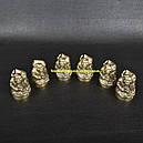 """Набор ручной работы """"Казак"""" (6 рюмок х 30мл), бронза, в деревянном кейсе, фото 2"""
