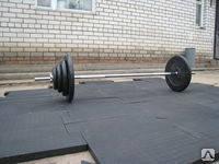Резиновая плитка для тренажерного зала., фото 1