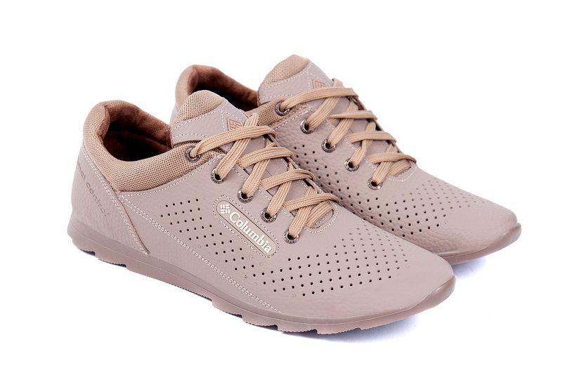 2b52c0da5 Мужские летние кожаные кроссовки Columbia (перфорация) - Интернет магазин