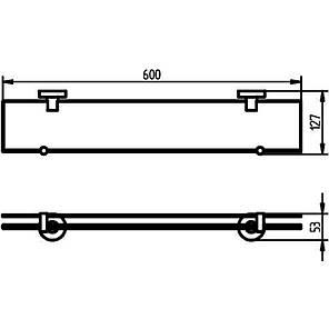 Kosmos TEC Полочка д/душа 60см (стекло) (402401), фото 2