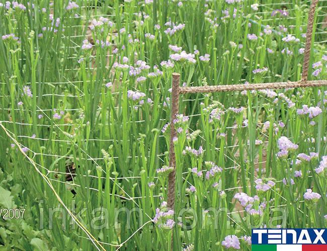 Сетка цветочная белая шпалерная Ортинет 13FH 1,2х1000 м (Tenax - Италия)