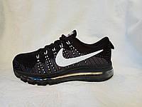 Женские кроссовки Nike air max flyknit black/white