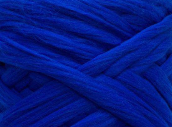 Товста, велика пряжа 100% вовна мериносів 100г (4м). Колір: Волошка. 21-23 мкрн. Топсі. Стрічка для пледів