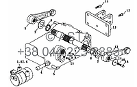 Вал и приводной механизм на YTO X754