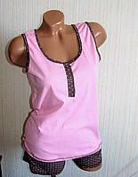 Пижама женская летняя, майка и шорты, фото 1