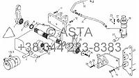 Вал и приводной механизм(с цилиндром) на YTO X754, фото 1
