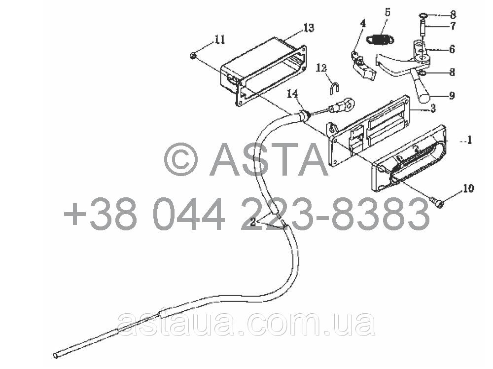 Механизм подъема (опция для быстрого подъема) на YTO X754