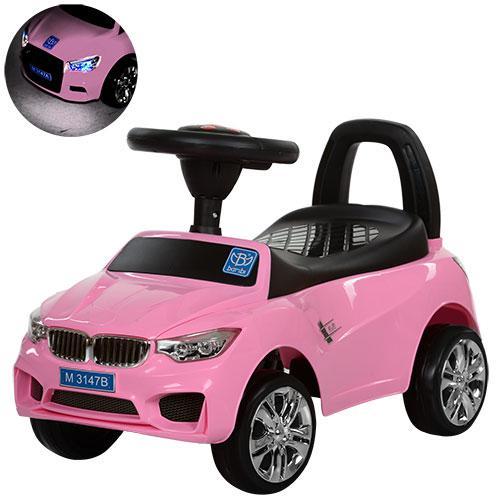 Толокар BMW (3147B-8) Розовый, МР3, звук, свет