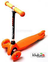 Детский самокат Micro Mini Оранжевый Светящиеся колеса