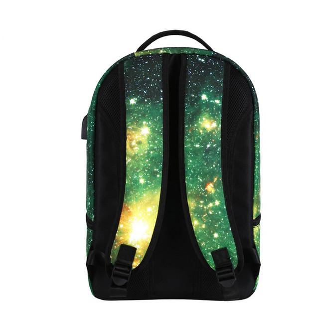 Школьный рюкзак Космос с USB и выходом под наушники