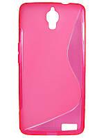 S-line чехол для Alcatel OneTouch Idol X 6040 / 6040D Розовый