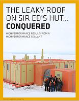 Эфективность материалов SIka на Южном Полюсе.