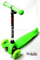 Детский самокат Micro Mini Зеленый Светящиеся колеса
