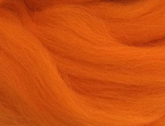 Толстая, крупная пряжа 100% шерсть мериноса. Цвет: Ярко Оранжевый. 21-23 мкрн. Топс.