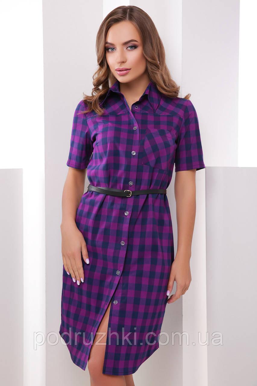 Женское стильное платье рубашка в клетку (расцветки)  продажа 718222fe79a91