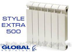 Радиатор отопления Global Style 500, биметалический, алюминий, сделан в Италии