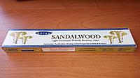 Благовонные палочки, натуральные, индийские Сандалвуд Сатья,  Sandalwood Satya (15 gm), фото 1