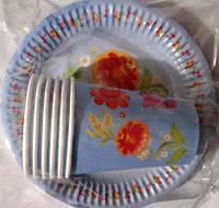 """Набор посуды бумажный """"Цветочек"""""""