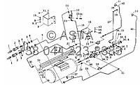 Тормозная система прицепа (опция) на YTO X754