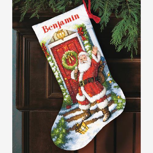 Набор для вышивания крестом Добро пожаловать Санта/Welcome Santa Stocking DIMENSIONS 70-08901