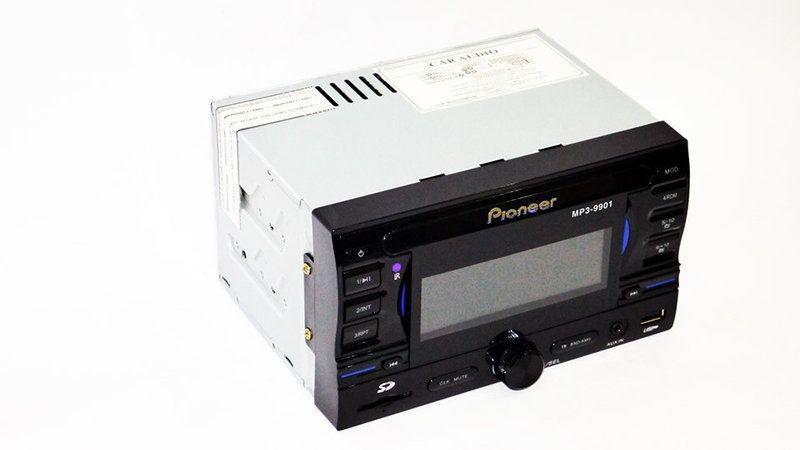 Эргономичная автомагнитола 2din Pioneer 9901 USB+SD+AUX+пульт RGB подсветка