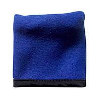 Напульсник для спорта с карманом, синий