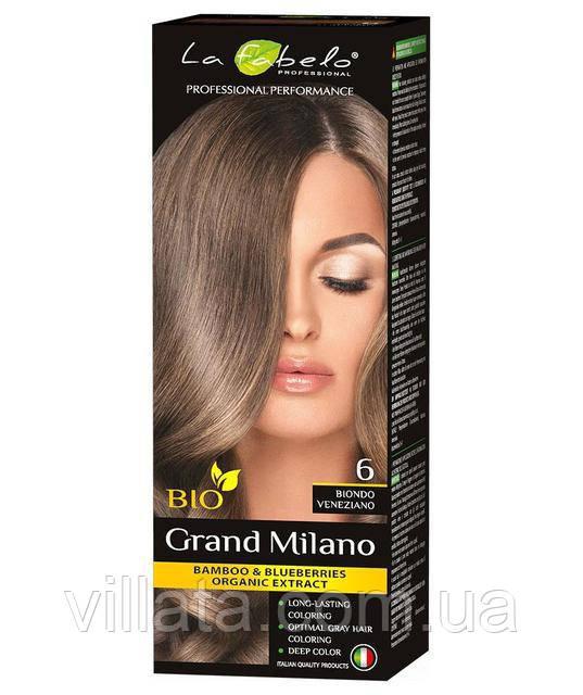 """Крем для волос La Fabelo №6 """"Венецианский блонд"""" Русый 100 ml Италия"""