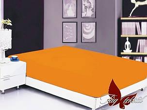 Оранжевая простынь полуторная 150х220 разные цвета , фото 2