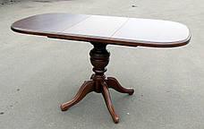 Стол обеденный раскладной прямоугольный на одной ножке  Триумф Микс мебель, цвет орех / темный орех / венге, фото 3