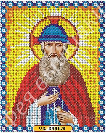 """Схема икона для вышивки на габардине """"Святой Вадим"""", фото 2"""