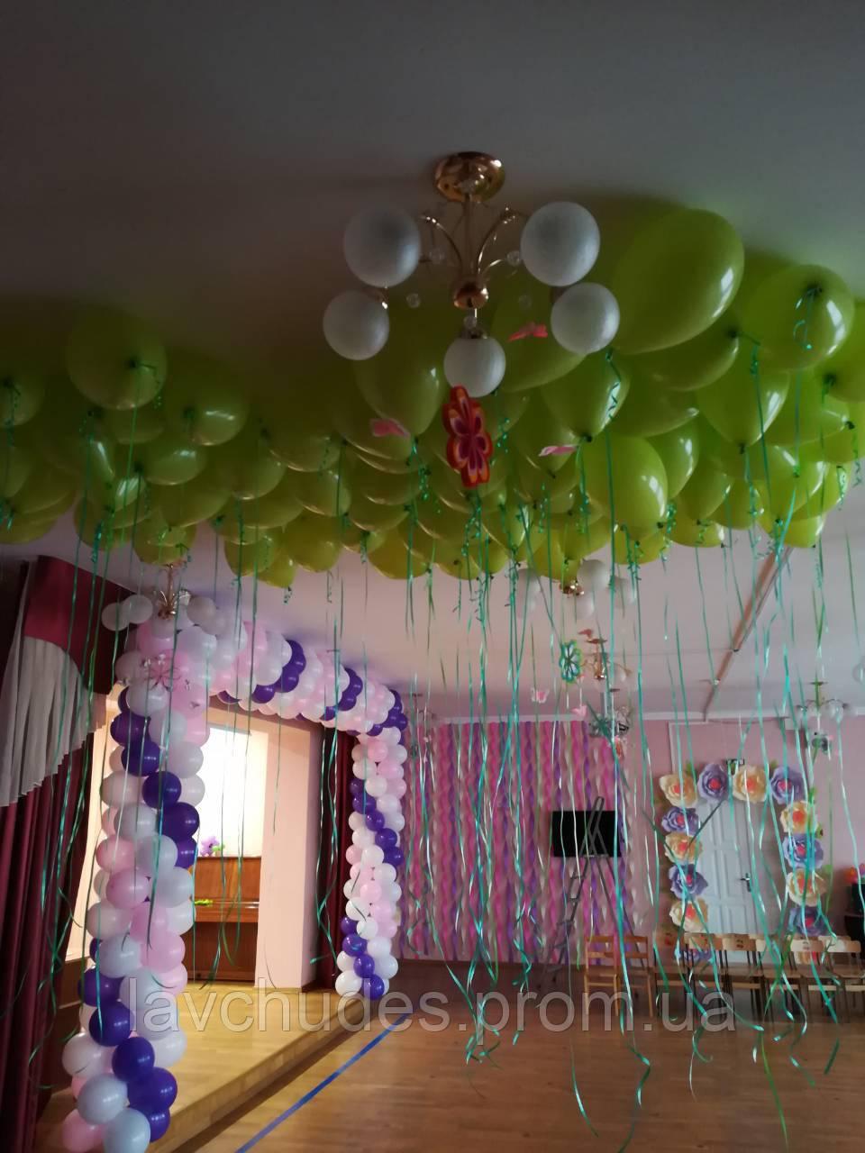 Арки из шаров на открытие, выпускной, 1 сентября. Гелиевые шары Киев. Гелиевые шары  Троещина.
