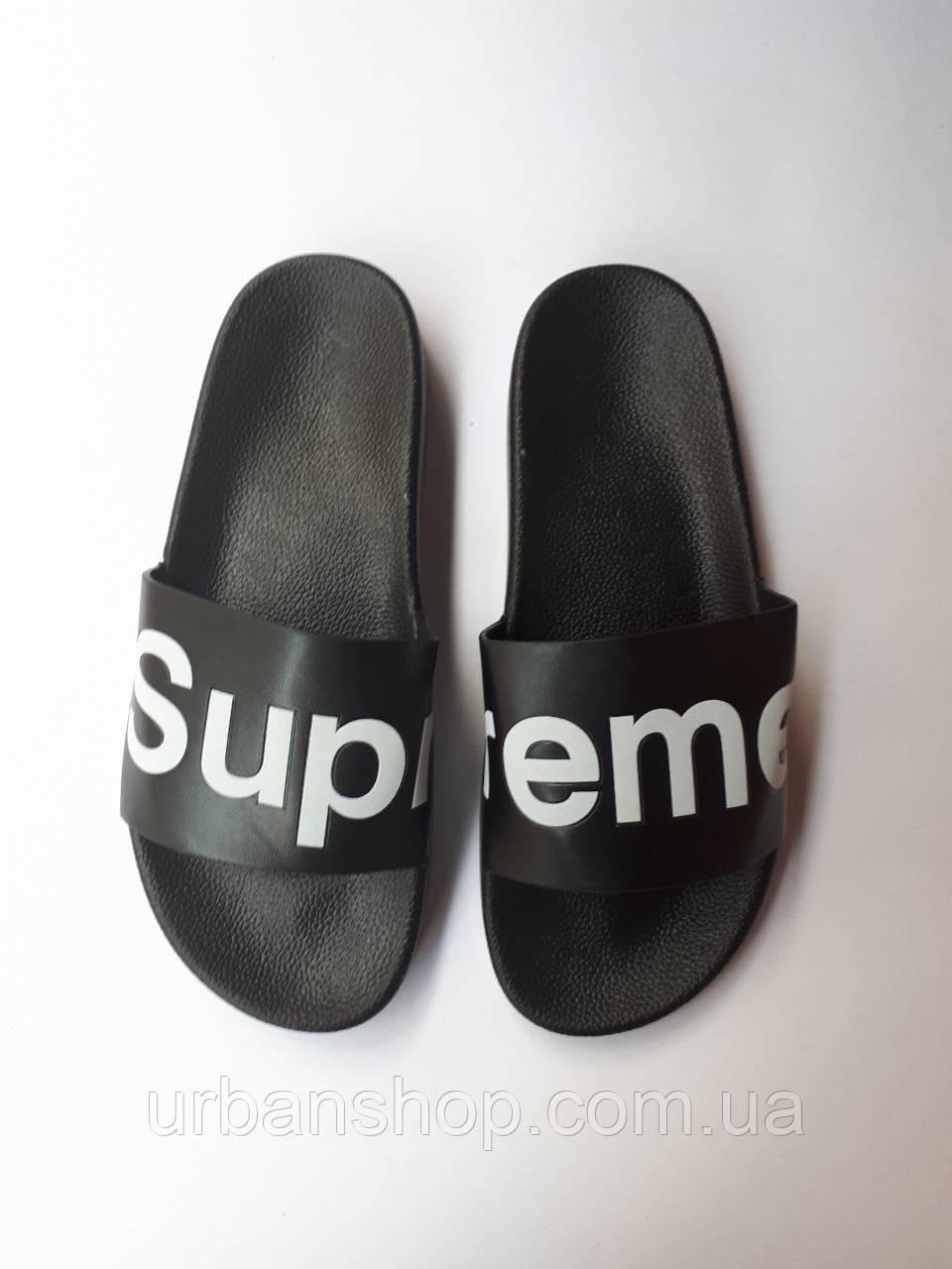 Supreme Slippers Black