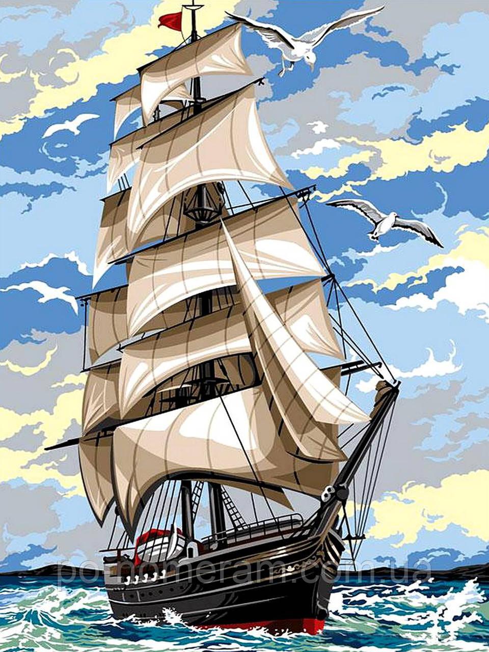 Раскраска для взрослых На встречу ветру (VK054) 30 х 40 см ...