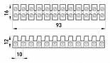Клеммная колодка делимая, 12групп, фото 2