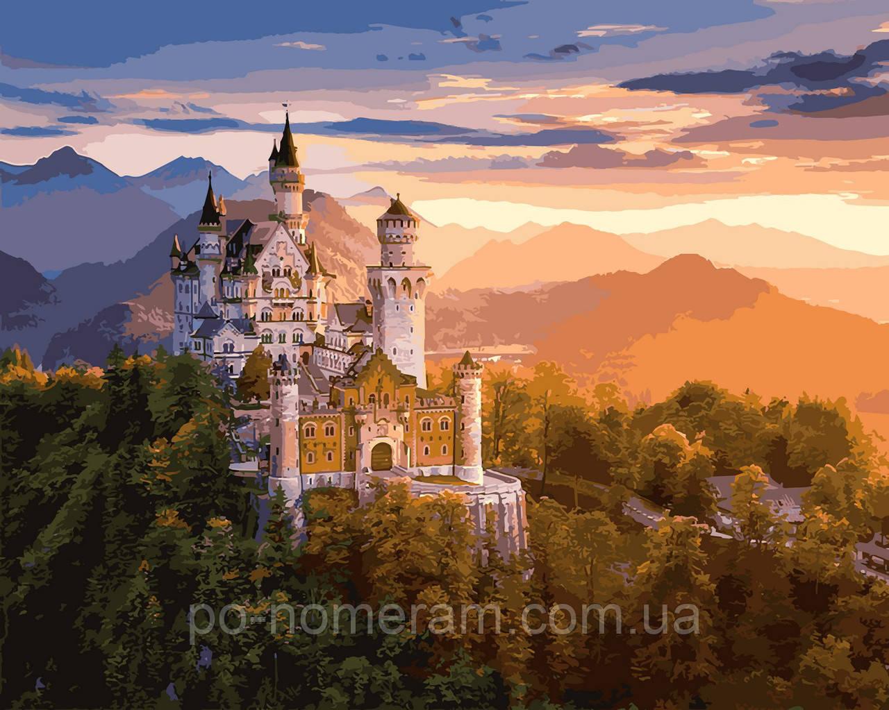 Картина по номерам Замок в лучах заката (VP908) 40 х 50 см DIY Babylon