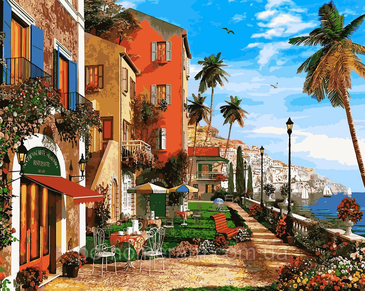 Раскраска для взрослых Средиземноморская гавань (VP921) 40 ...