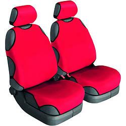 Автомайки,авточехлы красные  универсальные Beltex Cotton 1+1 красные без подголовников 11610