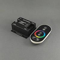 Сенсорный контроллер светодиодной ленты RGB 18A, радиоуправление, черный, фото 1