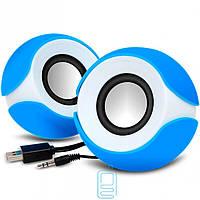 Колонки для компьютера G109 ZH круглые blue-white