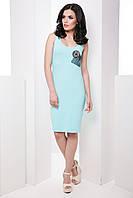 Стильное casual платье-майка без рукавов облегающего силуэта 7054/4, фото 1