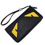 Женский кошелек клатч с глазами, фото 4