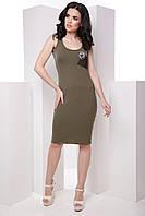 Стильное casual платье-майка без рукавов облегающего силуэта 7054/5, фото 1